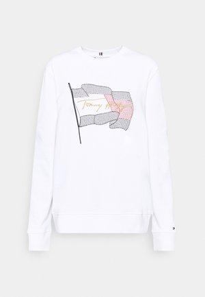 REGULAR FLAG - Sudadera - white