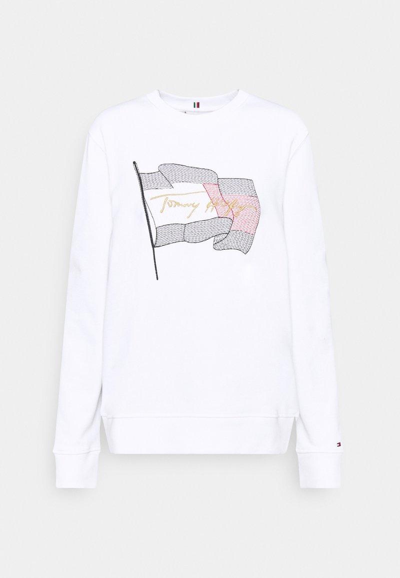 Tommy Hilfiger - REGULAR FLAG - Sweatshirt - white