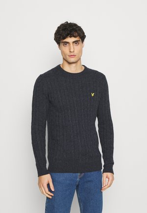 CABLE JUMPER - Strickpullover - dark navy marl