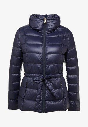 PACKABLE RIBBON BELT - Down jacket - navy