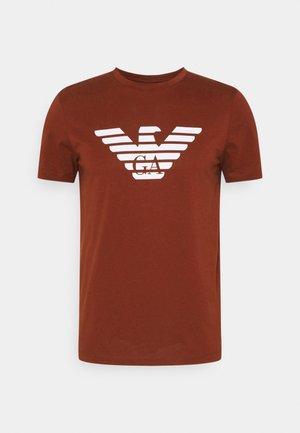 T-shirt con stampa - marrone chiaro