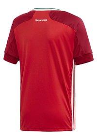 adidas Performance - HUNGARY HFF HOME AEROREADY JERSEY - Club wear - red - 3