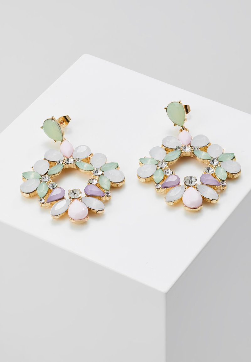 Pieces - PCPASTEL EARRINGS - Earrings - gold-coloured/multicoloured