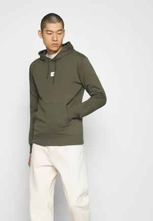 GRAPHIC HOOD - Bluza z kapturem - new taupe green