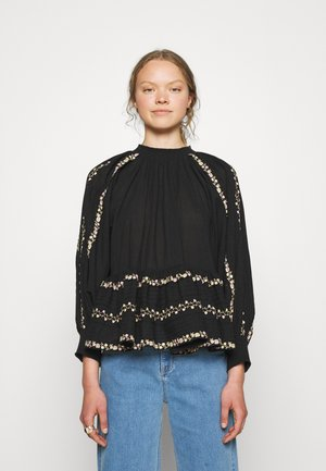 EMBROIDERY - Blouse - black