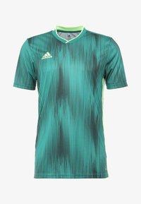 adidas Performance - T-shirt z nadrukiem - actgreen/hireye - 3