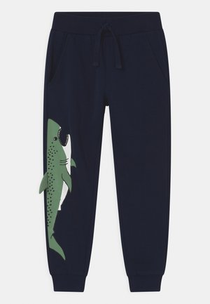 PLACED SHARK - Tracksuit bottoms - dark navy