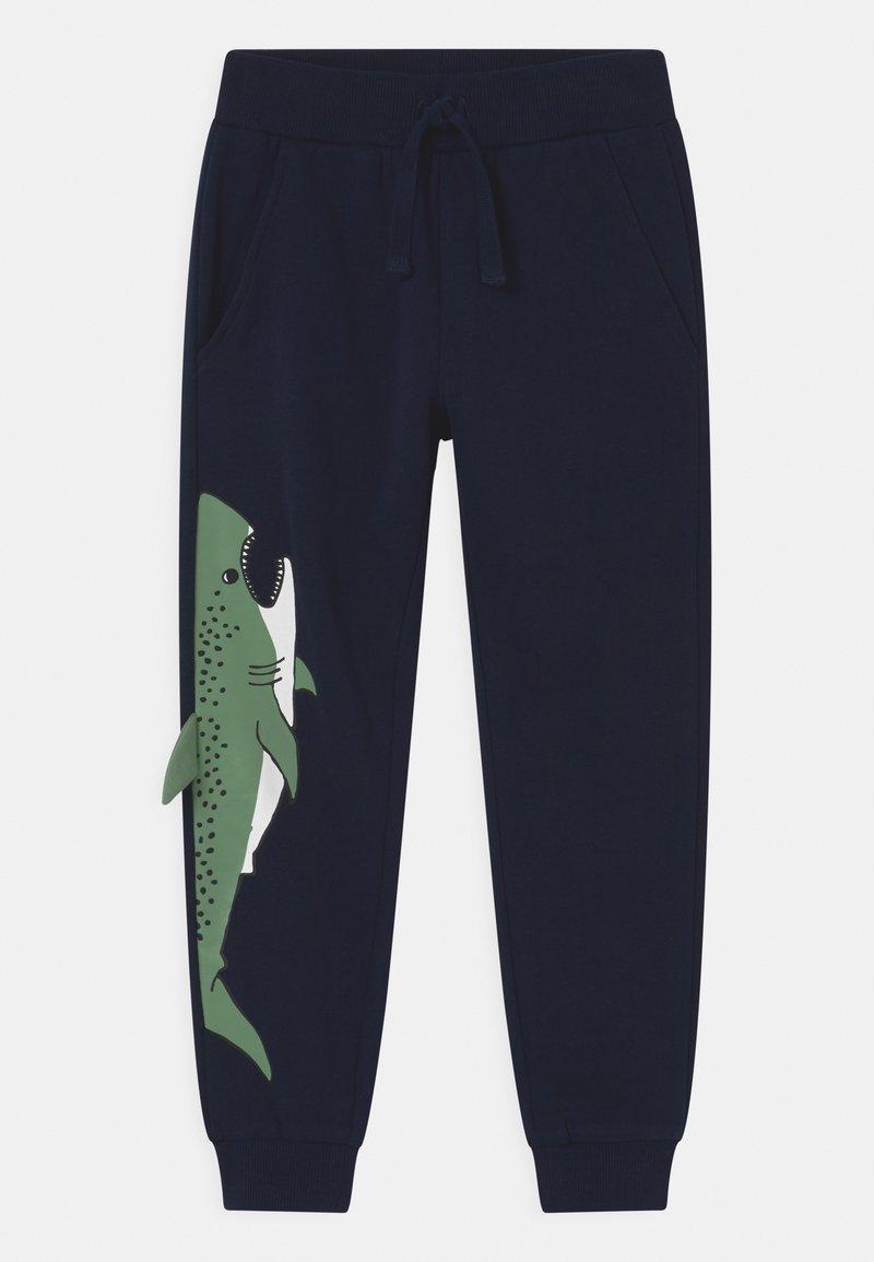 Lindex - PLACED SHARK - Pantalones deportivos - dark navy