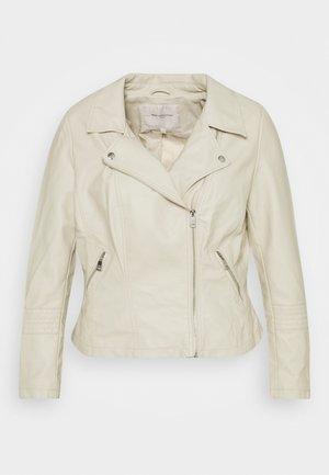 CAREMMY BIKER - Faux leather jacket - peyote