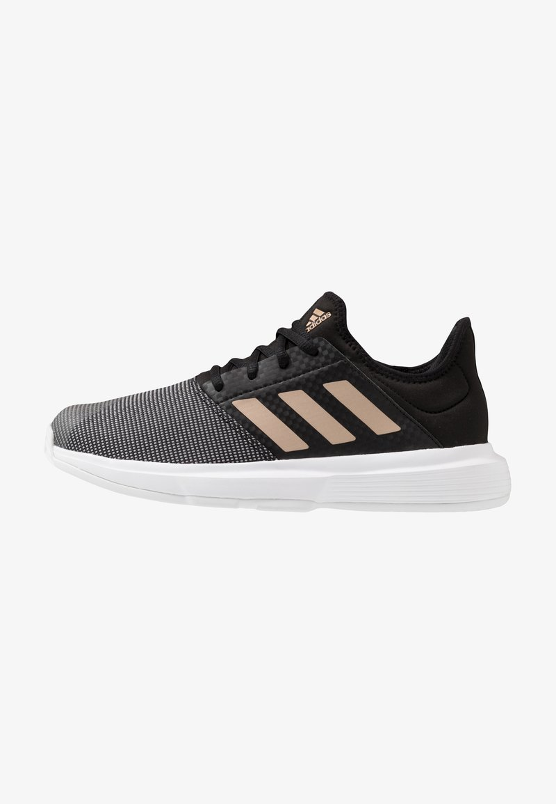 adidas Performance - GAMECOURT - Kengät kaikille alustoille - core black/copper metallic/footwear white