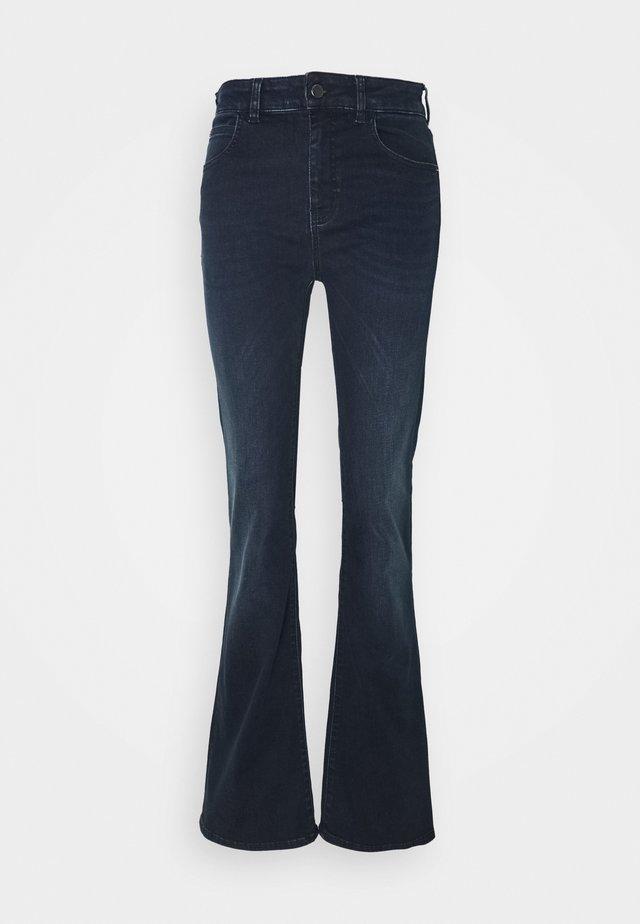 5 POCKETS PANT - Flared Jeans - dark blue denim