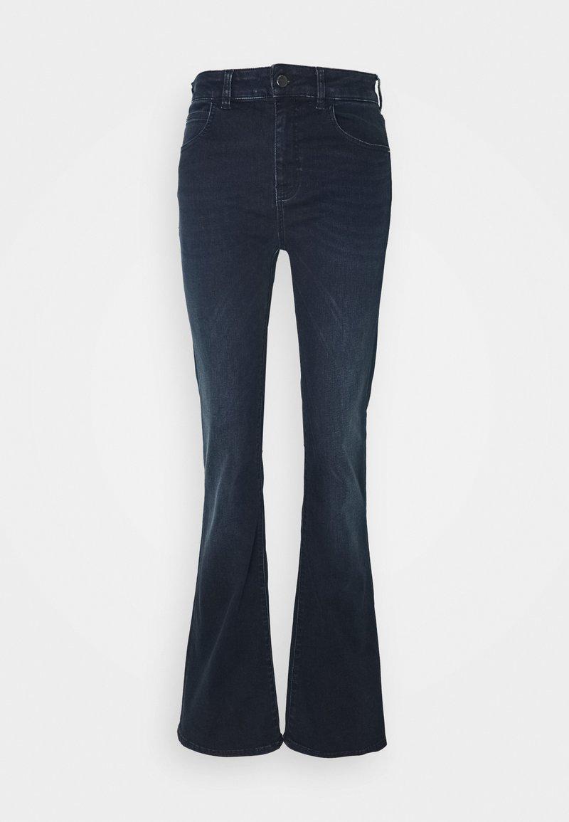 Emporio Armani - 5 POCKETS PANT - Flared Jeans - dark blue denim