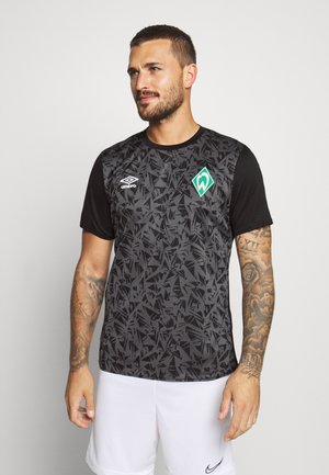 WERDER BREMEN WARM UP - Funktionsshirt - black/carbon
