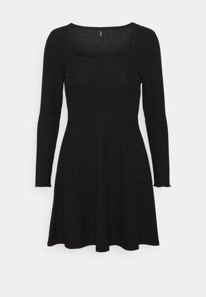 ONLNELLA SQUARE NECK DRESS - Day dress - black