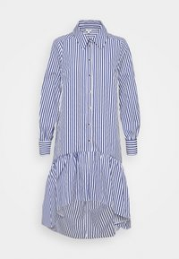 Shirt dress - white/blue
