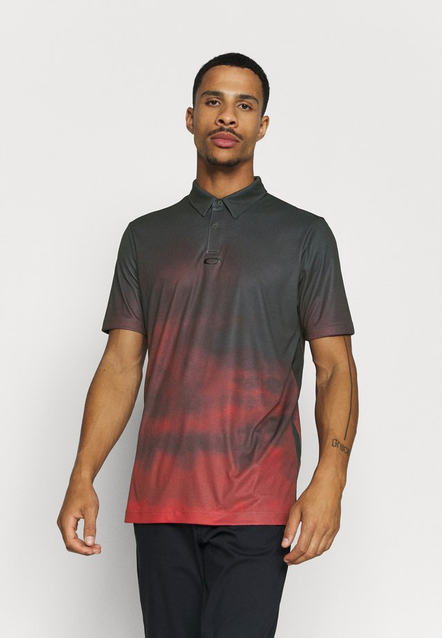 SUNSET - Polo shirt - smoke poppy red