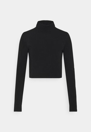 EVERYDAY CHOP MOCK NECK LONG SLEEVE - Camiseta de manga larga - black