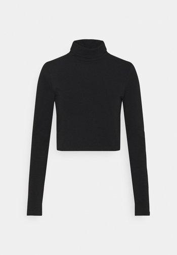 EVERYDAY CHOP MOCK NECK LONG SLEEVE - Long sleeved top - black