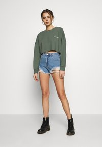 Abrand Jeans - A HIGH RELAXED SHORT - Denim shorts - salty blue - 1