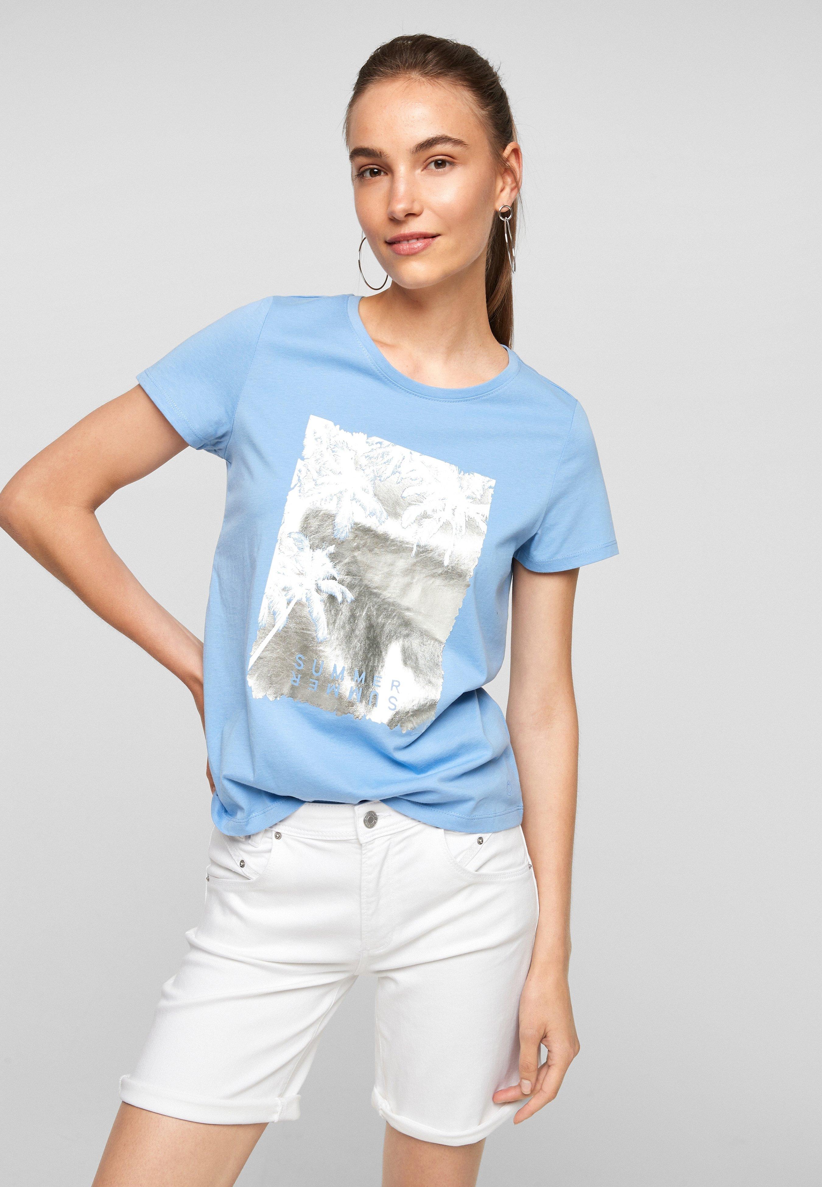 Damen MIT SOMMERLICHEM DRUCK - T-Shirt print