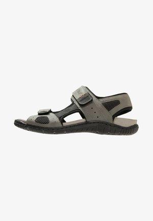 Walking sandals - cement/schwarz/grau