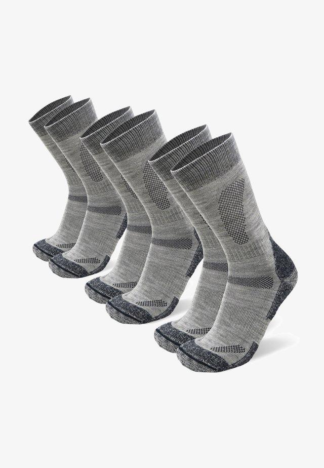 3 PACK - Strumpor - light grey