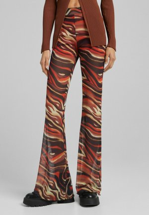 Trousers - mottled orange