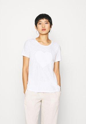 SHORT SLEEVE ROUND NECK - Print T-shirt - white