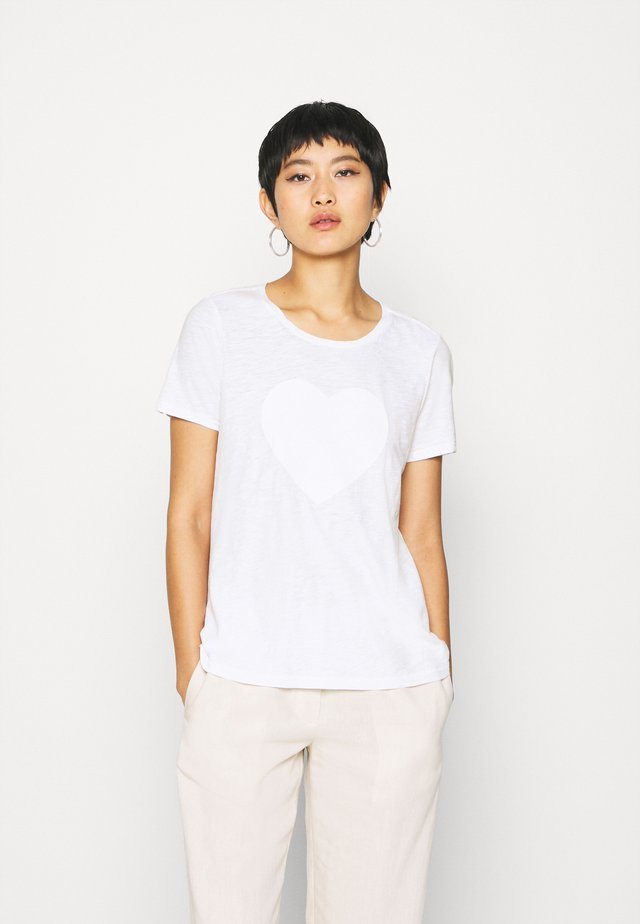 SHORT SLEEVE ROUND NECK - Print T-shirt - white