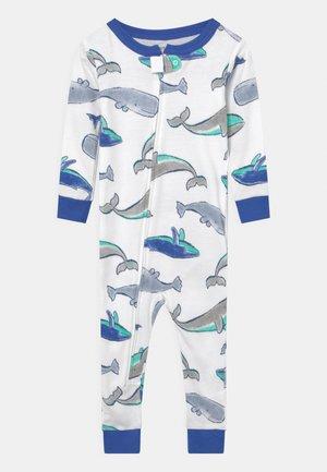 WHALE - Pyjama - white/blue
