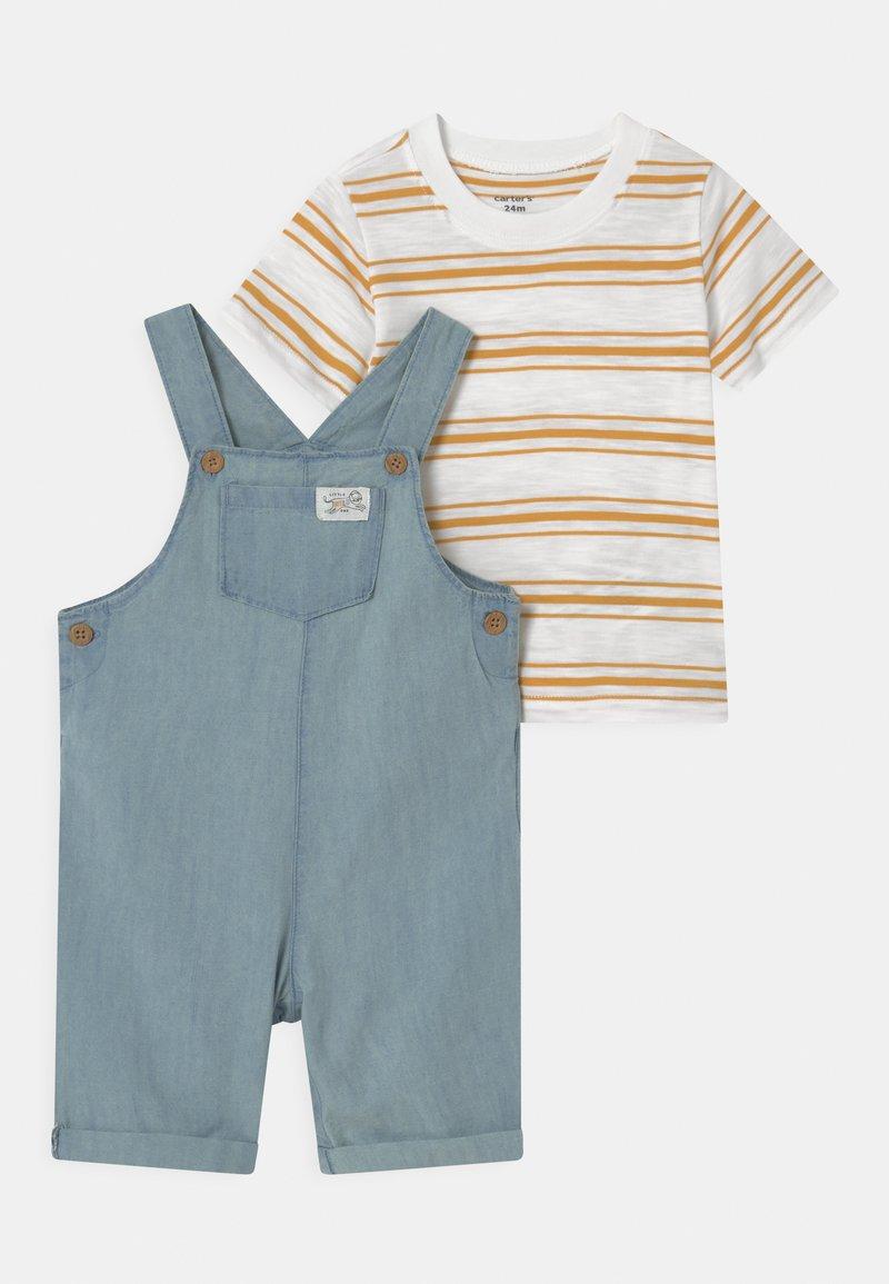Carter's - SHORTALL SET - Print T-shirt - blue