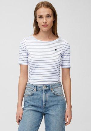 Print T-shirt - mutli/washed cornflower
