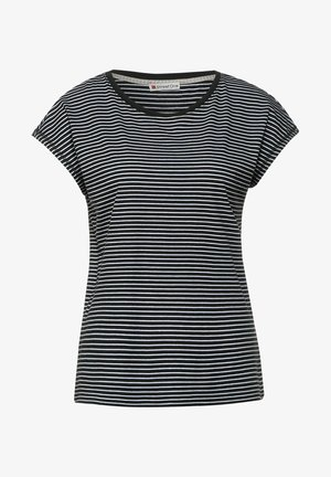MIT STREIFEN - T-Shirt print - schwarz