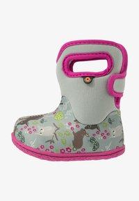 Bogs - BABY WOODLAND FRIENDS - Zimní obuv - light gray/multicolor - 1