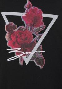 Zign - TRAINGLE ROSES UNISEX - Long sleeved top - black - 2