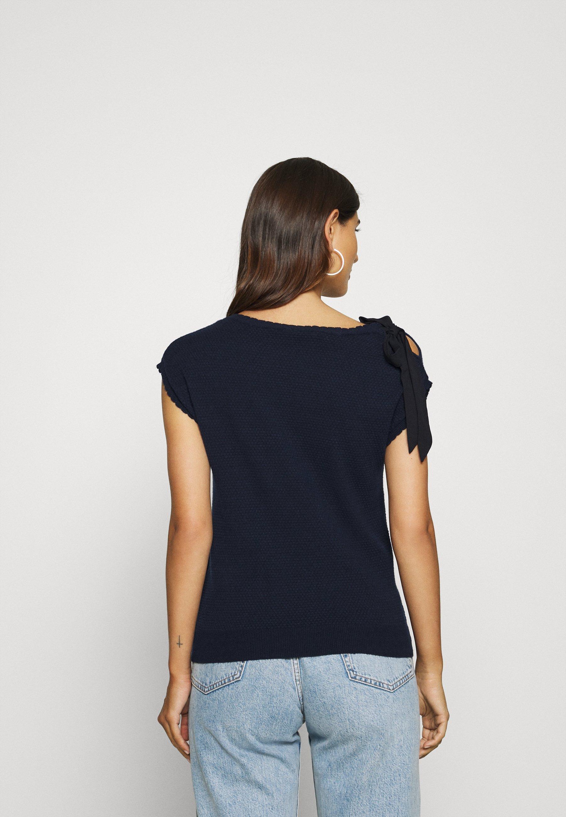 Naf Marceau - T-shirts Med Print Bleu Marine/mørkeblå