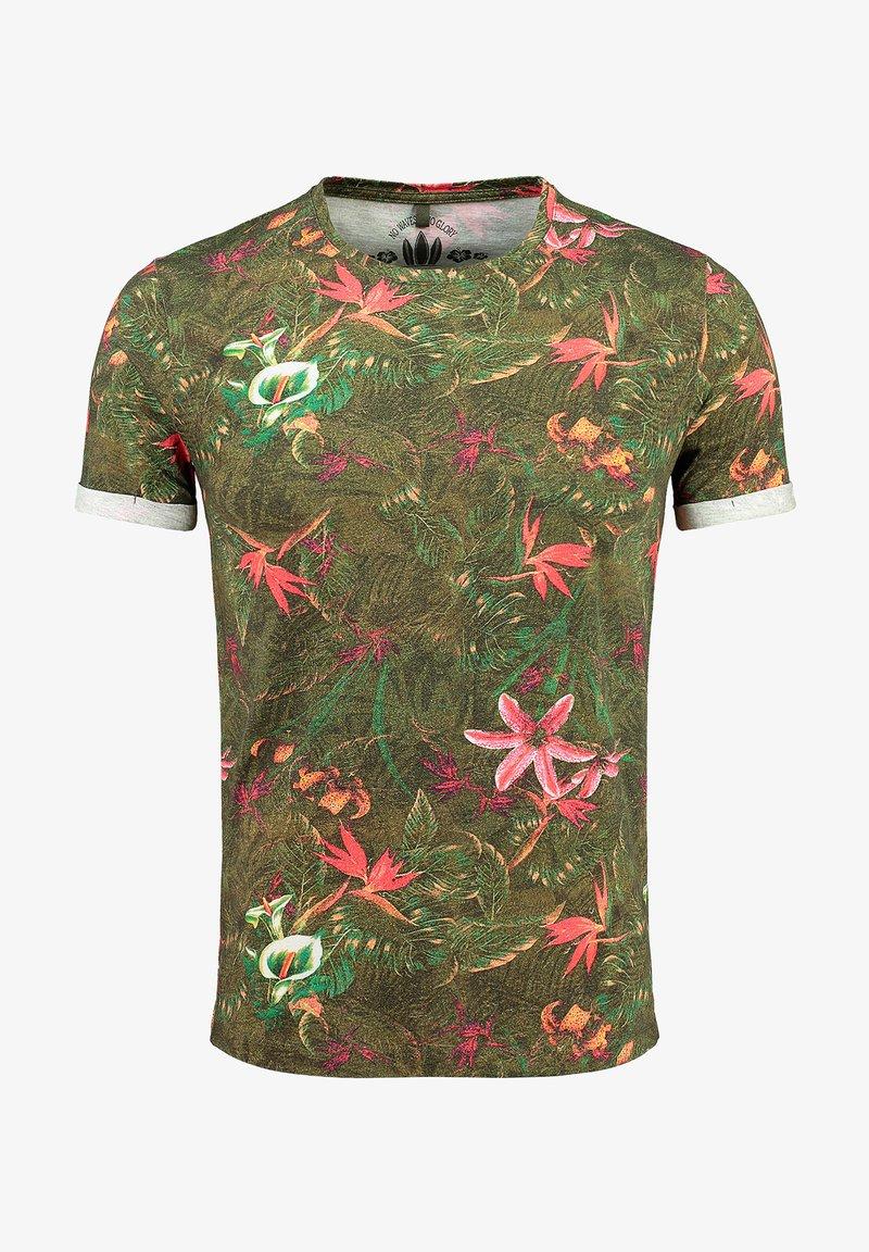 Key Largo - MT JUNGLES - Print T-shirt - olive