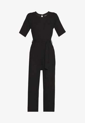 BASIC - Jumpsuit with belt - Haalari - black