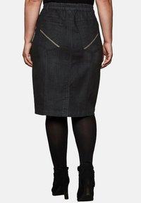 Sheego - Pencil skirt - black denim - 2