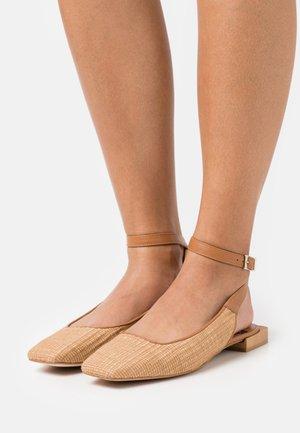 Slingback ballet pumps - camello