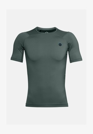UA RUSH HG COMPRESSION SS - Basic T-shirt - lichen blue