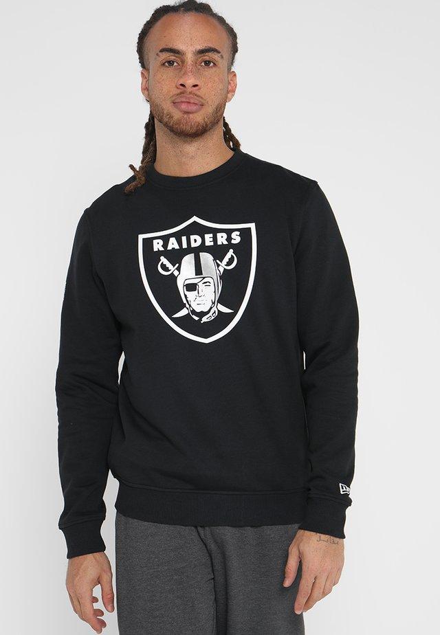 NFL TEAM LOGO OAKLAND RAIDERS - Klubové oblečení - black
