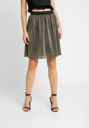 Mini skirt - black/gold