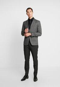 Esprit Collection - CHECK BLAZER - Blazer jacket - dark grey - 1