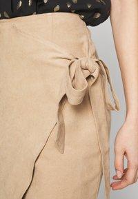 Ivyrevel - OVERLAP SKIRT - Pencil skirt - beige - 4