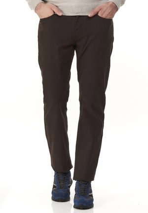 BASICO REGULAR - Trousers - marrone