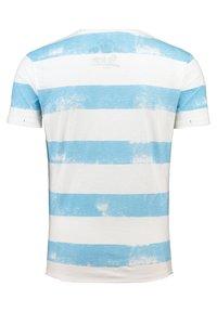 Key Largo - MT AIRFLIGHT - Print T-shirt - offwhite-blue - 1