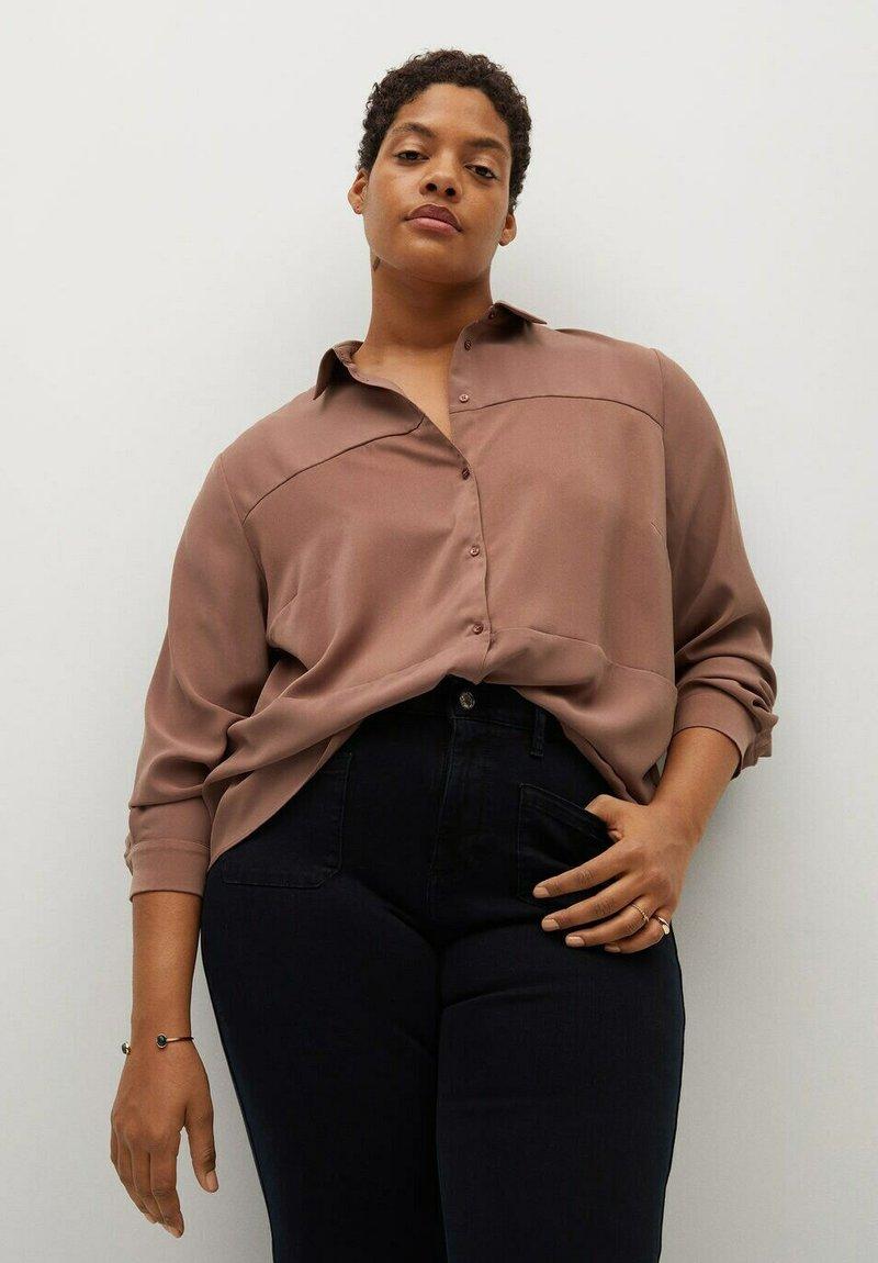 Violeta by Mango - Button-down blouse - dunkelorange