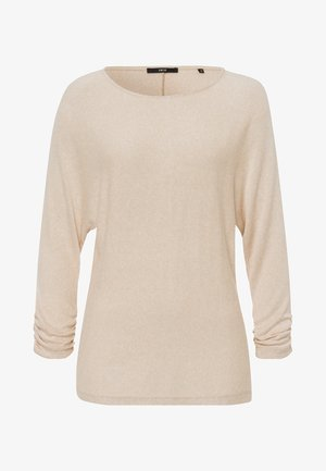 Long sleeved top - cream melange