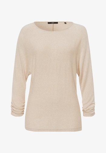 Long sleeved top - cream melange